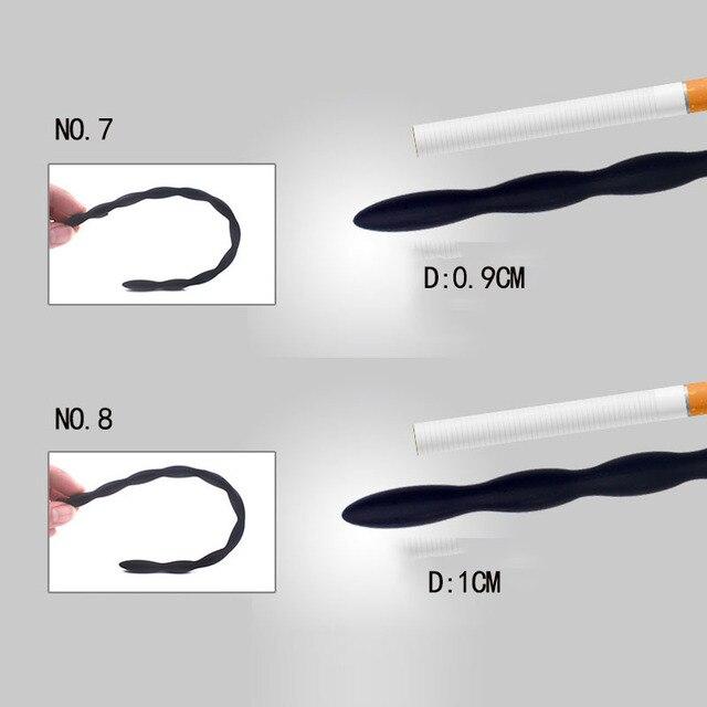 Silicone pénis dilatateurs Sextoyse pénis bouchons jouets sexuels pour adultes hommes Gay sonnant pénis Plug urètre cathéter urétral cathéter