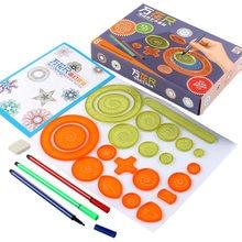 Régua geométrica para estudantes matemática desenho ferramentas de desenho aprendizagem pintura crianças quebra-cabeça brinquedos spirograph arte ferramenta presente