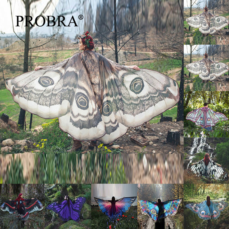 Women Photograph Photo Clothes Maternity Pregnancy Dress Artificial Flower Butterfly Wing Art Album Clothing 3D Animal Dresses L