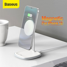 Baseus – chargeur magnétique sans fil pour iPhone 12 Pro Max, support de téléphone portable de bureau pour iPhone 12 Mini