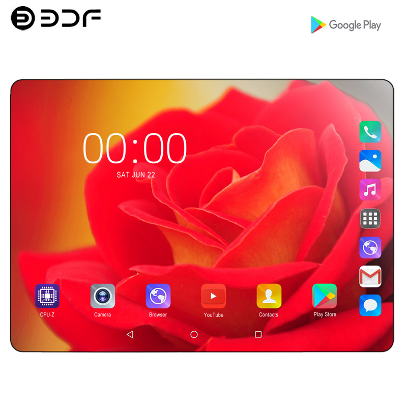 10.1 Inch Android 9.0 Ten Core 8GB RAM 128GB ROM Tablet 2.5D Steel Screen IPS WiFi Bluetooth GPS Tablet PC Mobile Phone SIM Card