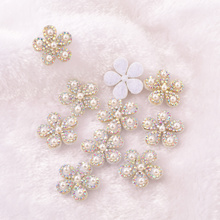 Non-woven Fabric With Pearls And Diamonds Clothing Accessories Patch Sticker Clothing Accessories DIY  A94