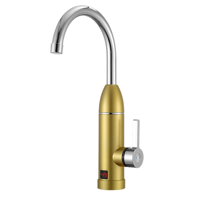Hot 3000W 220V Electric Kitchen Instant Heating Faucet Heater Hot Cold Tankless Water Quickly Heating Tap With LED Display EU Pl