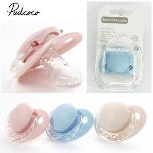 Chupeta ortodôntica para bebês de 0-36meses, chupeta de silicone para meninos e meninas, recém-nascidos, produto comestível