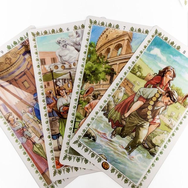 Romantic Tarot Cards Nouveau Tarot  Occult Tarot Roses Lenormand Tarot of the Divine Tarot Deck Card Games 5