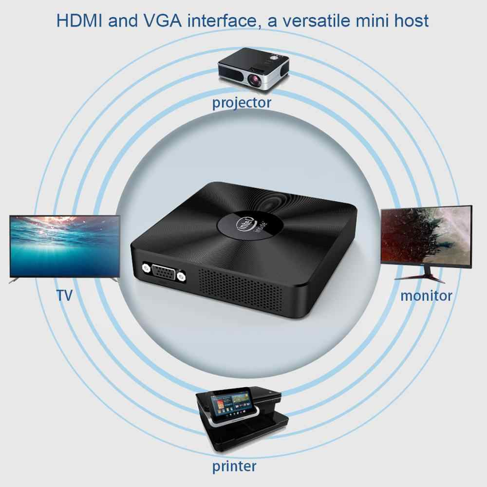 T92 Mini PC Intel Atom Z8350 4G/64G 2,4G/5G WIFI Windows 10 poco 64 OS BT4.0 soporte VGA + HDMI USB 3,0 de tarjetas TF Mini PC