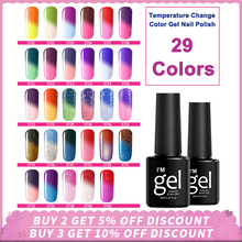 8ML Temperature Change Color Nail Gel Polish Soak Off Changing Thermal For DIY Art Design