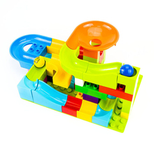 52PCS Kids Marble Race Run Maze Balls Track Building Blocks Funnel Slide Big Brick Compatible building blocks