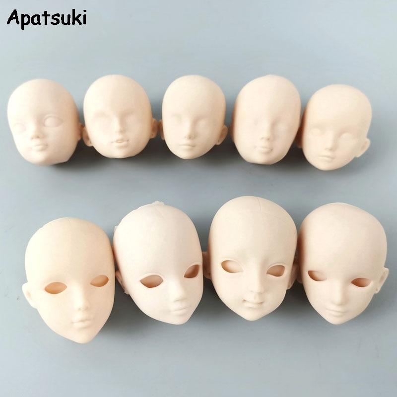 Accessoires de poupée multi-style en plastique souple pratique maquillage bricolage tête de poupée pour 11.5 \