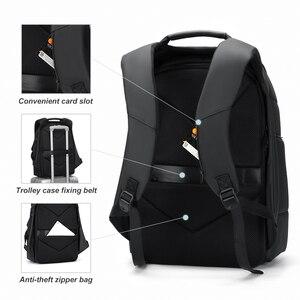 Image 5 - Rowe الذكور متعددة الوظائف على ظهره USB شحن الأعمال حقيبة ظهر للسفر مكافحة سرقة مقاوم للماء 15.6 بوصة محمول الظهر حزمة Mochila