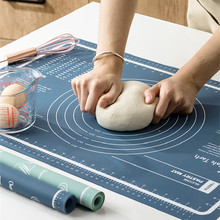 kitchen accessories tools Silicone baking mat non-slip Pastry roll cake tools BPA Free Rolling pin for dough with mesurement