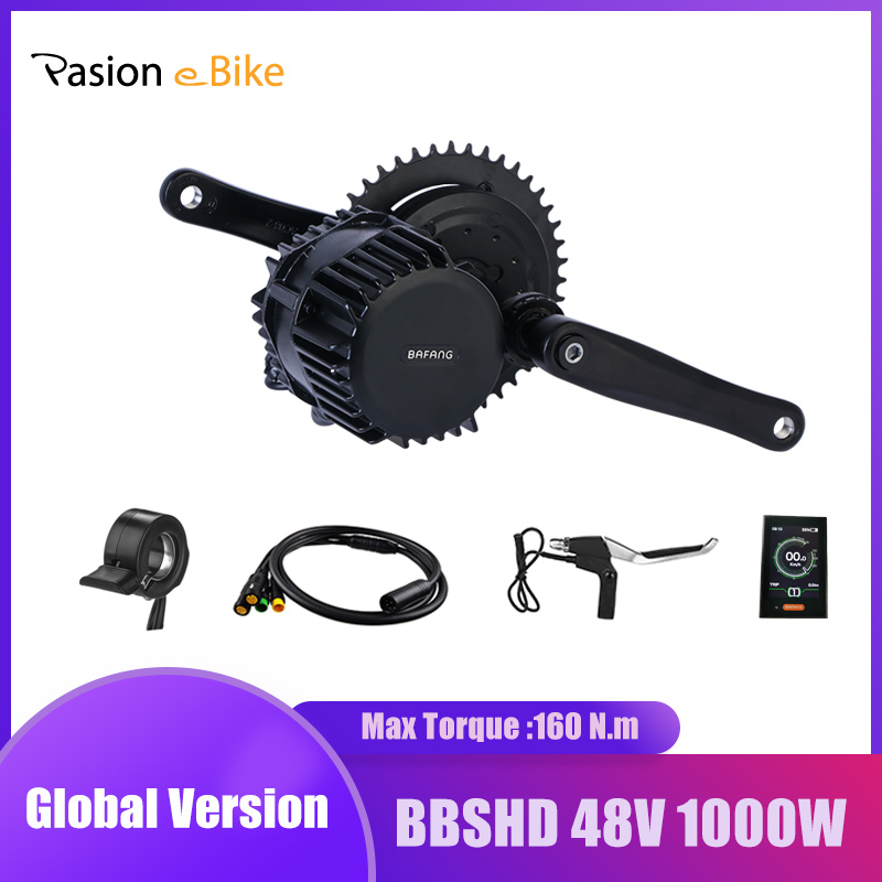 Bafang 48V 1000W BBS BBS03 BBSHD Mid Drive Motor Electric Bicycle Conversion Kit 68-120mm E Bike Kit BAFANG Engine C18 Display