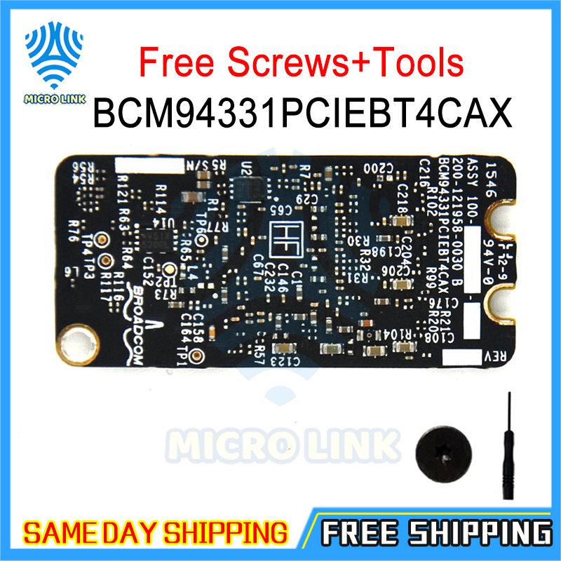 Bluetooth 4.0 wifi card Airport Card for Macbook Pro A1278 A1286 2011 2012 Year BCM94331PCIEBT4CAX(China)