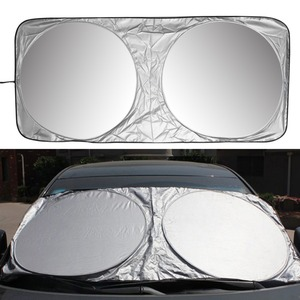 Image 1 - 150 X 70cm Car Sunshade Sun Shade Front Rear Window Film Windshield Visor Cover UV Protect Reflector Car styling High Quality