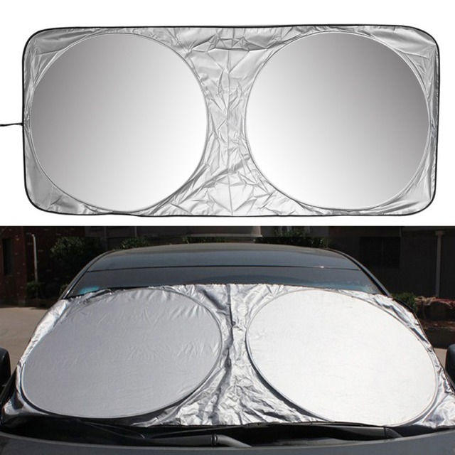 150 X 70cm Car Sunshade Sun Shade Front Rear Window Film Windshield Visor Cover UV Protect Reflector Car styling High Quality
