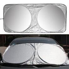 Parasol delantero y trasero para coche, parasol de 150X70cm para parabrisas, Reflector de protección UV, estilismo para coche, alta calidad