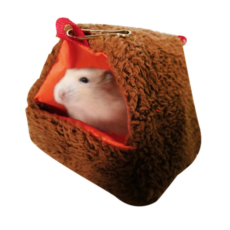 Lovely Squirrel Mouse Swing Hanging Cave Nest Cages  Soft Warm Tunnel Cavia Guinea Pig Hamster Bed Netting Small Animal Hedgehog