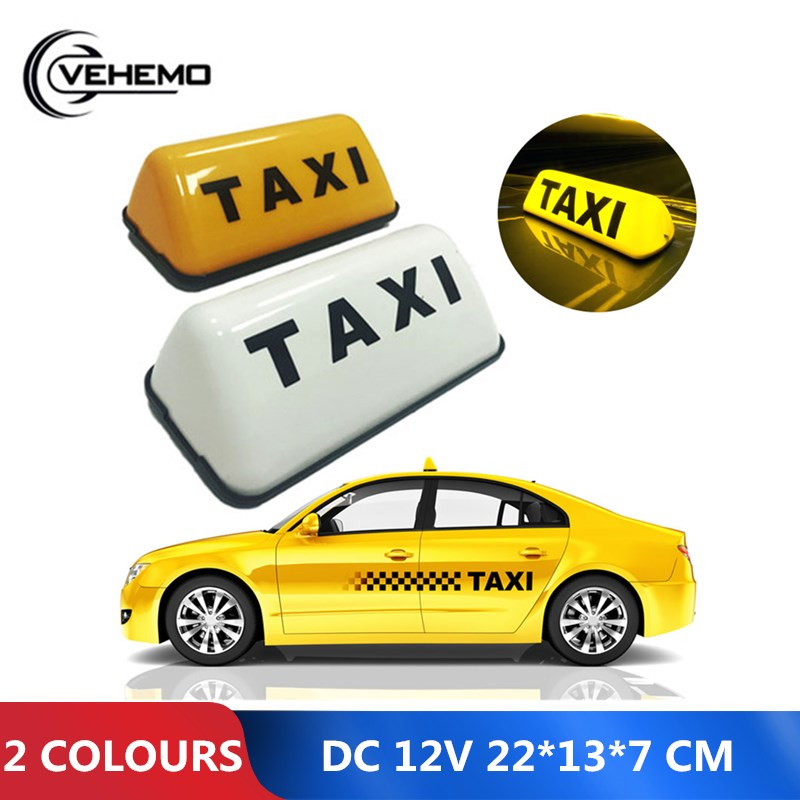 VEHEMO ABS DC 12V 3W 2 Colours Taxi Roof Sign Light White Light No Delay In Lighting Prevent The Rear-end Collision Much Safer
