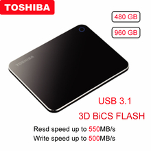 Toshiba XS700 внешний твердотельный накопитель портативный SSD 480 Гб USB 3,1 высокоскоростной мобильный жесткий диск type-C зашифрованный SSD