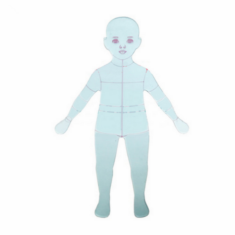 Children Kids Costume Designing Fashion Ruler Fashion Line Drawing Human Dynamic Template For Cloth Rendering