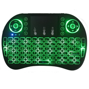 Image 3 - Novo 2014 rato de ar 92 chave mini portátil 2.4ghz inglês layout teclado touchpad mouse controle remoto do jogo teclado sem fio