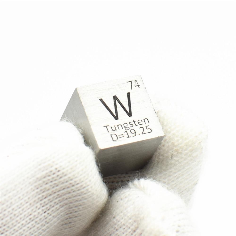 Tungsten wolfram Element Cube W 3N5 99.95% Laser Marked Research Development Element Simple Substance High Temperature10 MM