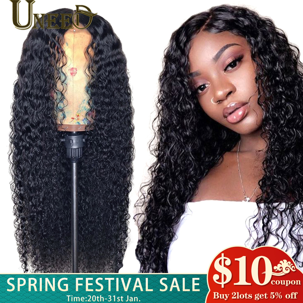 360 Lace Frontal Wig Mongolian Afro Kinky Curly Remy Hair 13x4 Lace Front Human Hair Wigs 180% Density Prepluck Natural Hairline