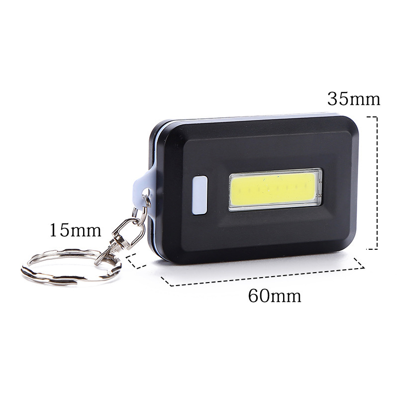 Details about  /Portable Super Mini COB Light 4 Modes Camping Flashlight 4 Modes Keychain Lamp
