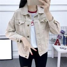 2019 Summer Autumn Hot Selling Womens Fashion Casual Denim Jackets Button Female Jeans Jacket Streetwear