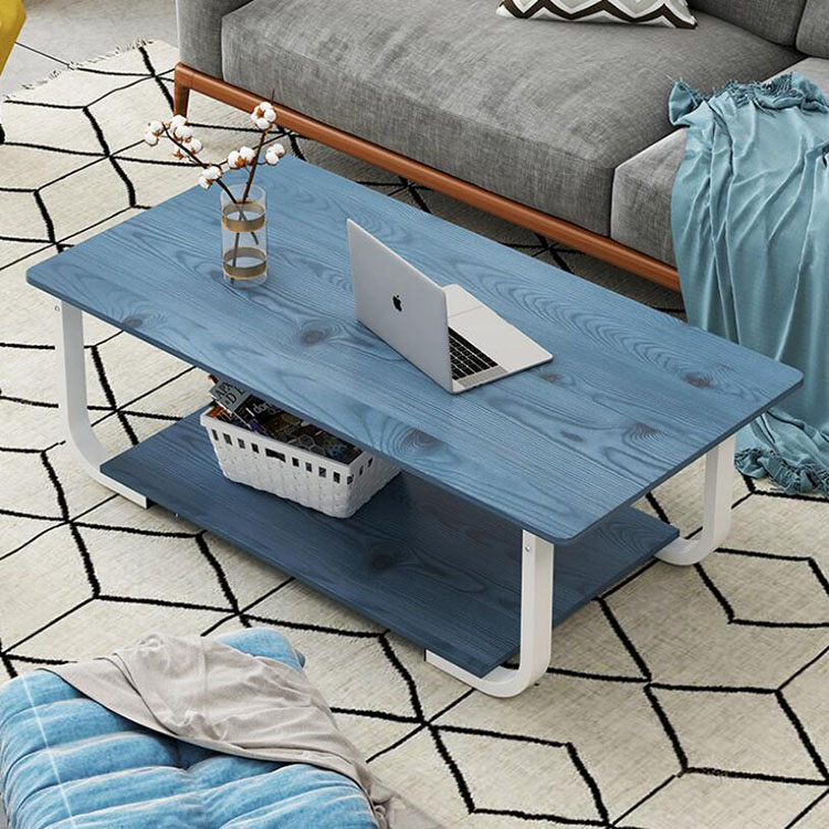 Modern Simple Coffee Tea Table With Storage Shelf For Inside Sofa Side Living Room Home Wooden Furniture Table