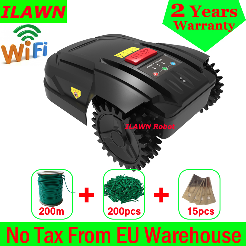 The Cheapest WiFi App Control Robot Grass Cutter Automatic H750 with 200m Wire+200pcs Pegs+15pcs Blades