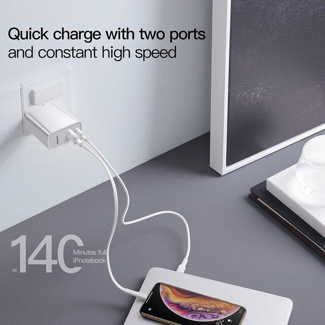 Фото baseus quick charge 40 30 usb зарядное устройство типа c qc