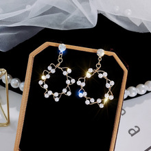Sweet Rainbow S925 Silver Needle Korean Earrings Irregular White Natural Freshwater Baroque Pearl Jewelry for Women Gif