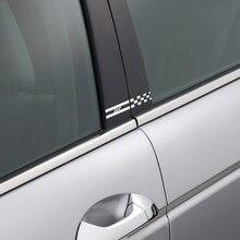 Autocollants décoratifs pour piliers de voiture, 2 pièces, Film de couverture de colonne Automobile réfléchissant, accessoires de décalcomanies en vinyle pour Peugeot 207
