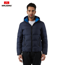 MALIDINU 2019 Men Down Jacket Winter Coat Parka Brand Thick Warm Jackets Mens Duck Outwear -30C