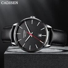 Cadisen Automatische Horloge Mannen Mechanische Horloge Luxe Merk Sapphire 50M Waterdichte Japan NH35A Auto Datum Lederen Mannelijke Horloge