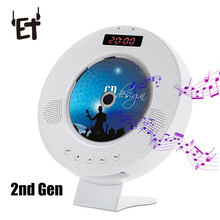 Wall Mounted CD Player Surround Sound DVD FM Radio Bluetooth USB MP3 Disk Portable Music Player Remote Control With LED Display(China)