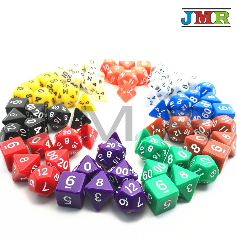 Lowest Price Hot Sale High Quality Dragons And Dungeons 7pc/lot Dice Set  D4,D6,D8,D10,D10%,D12,D20 Portable Board Game