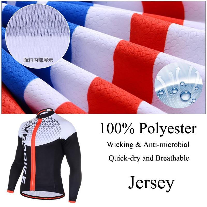Купить с кэшбэком VEOBIKE Autumn Men's Long Sleeve Cycling Jersey Set Pro Team 2020 3D Gel MTB Bike Clothes Quick Dry Bicycle Clothing Sport Suits