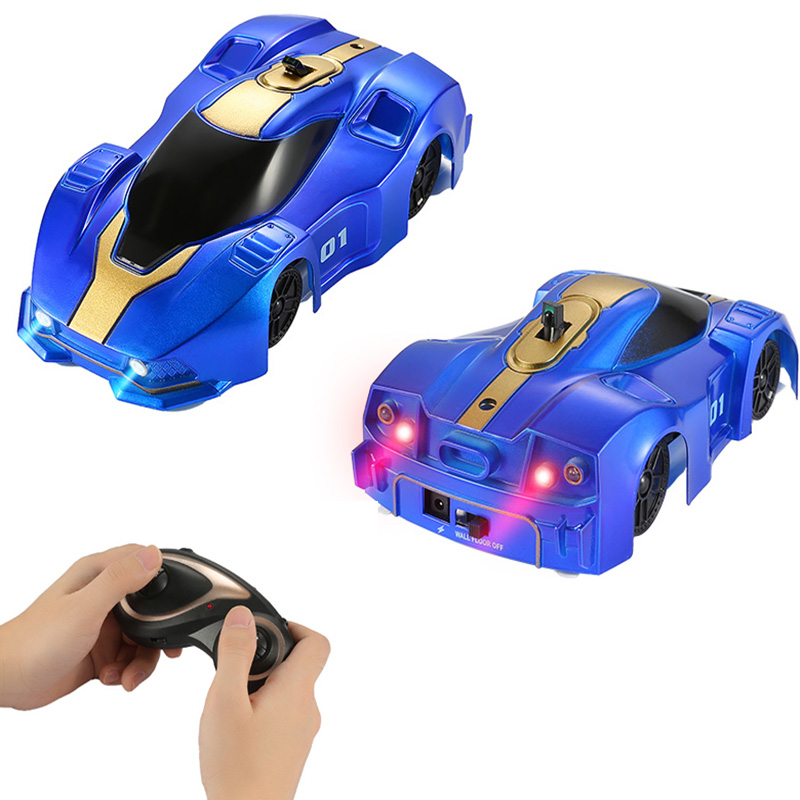 Remote Control Car With LED Lights 360 Degree Mini Wall RC CAR 3 Color Fashion Climbing Vehicle Toys For Kids   Christmas Gift