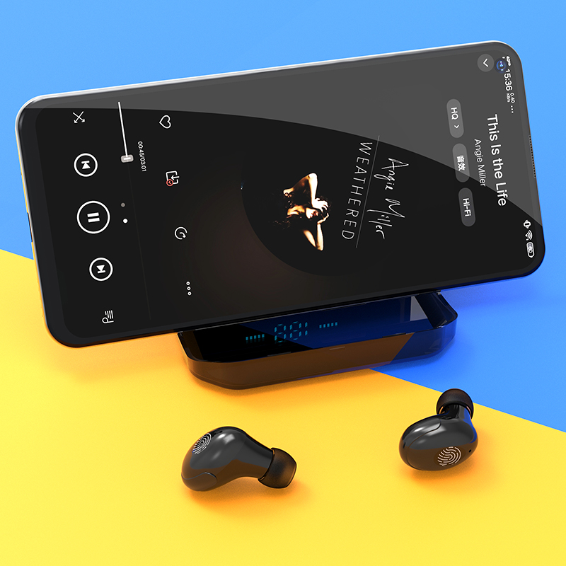 cheapest 4200mAh TWS Bluetooth 5 0 Eaphones With Charging Case Wireless Earphone IPX7 Waterproof Earbuds Sport 9D Stereo Touch Control