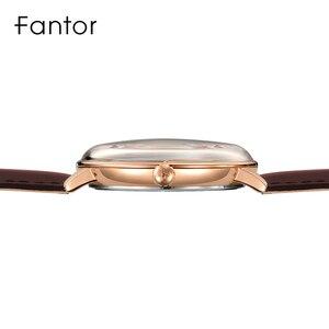 Image 3 - Fantor ผู้ชายง่ายๆสบายๆนาฬิกาวันที่นาฬิกาควอตซ์สายหนังโค้งนาฬิกาข้อมือผู้ชายนาฬิกาส่องสว่างกันน้ำชุดนาฬิกา