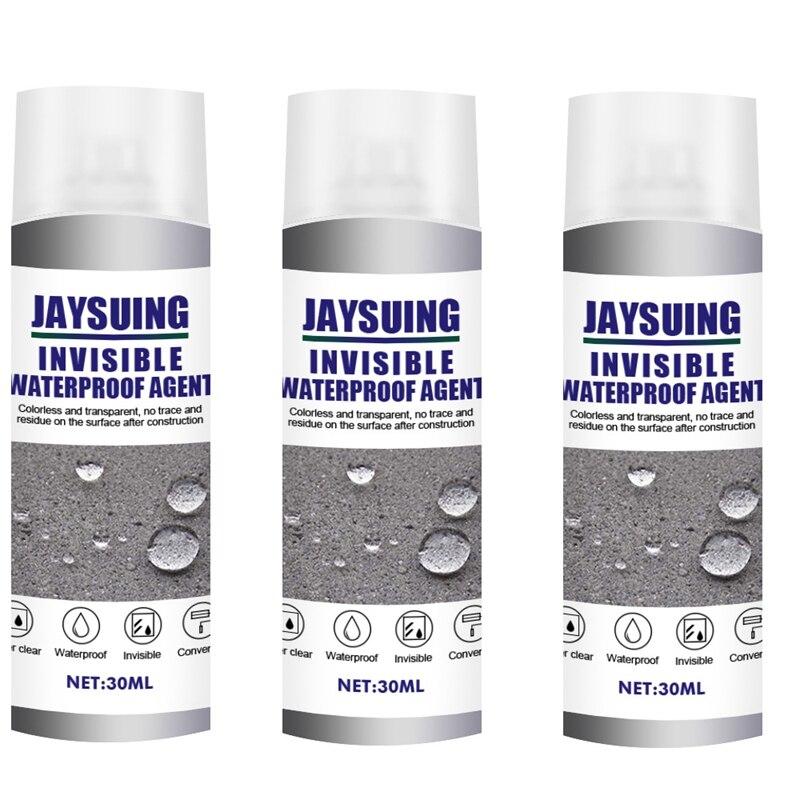 Jaysuing 3Pc Kit Spray Coating Vloeibare Waterdichte Sterke Hechting Spray Lek Water Lek Reparatie Kit Plug