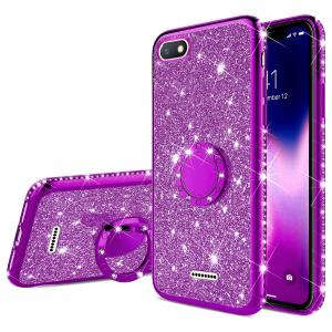Rhinestone Finger Ring Case for XIAOMI Mi A2 A3 9T 9 SE 8 Lite REDMI 6 Pro 8 8A 7A 6A 5 Plus Note 7 8 9 Pro 8T 9S Glitter Cover(China)