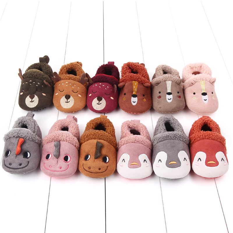 CYSINCOS 2019 New Baby Shoes Animal Toddler Girl Deer Polar Pompom Single Shoes Faux Leather Solid Slip-On Soft
