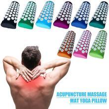 Lotus Acupressure Massage Pillow Spike Relieve Stress Back Body Pain Spike Massage Yoga Pillow Needle Massager Pillow HealthCare