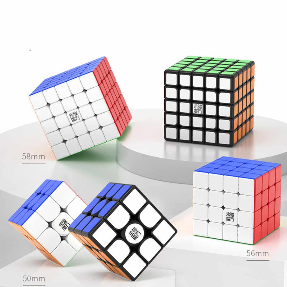 Оригинальный YJ Zhilong Mini 3x3 м 4x4 м 5x5 м Магнитный Скорость кубики небольшой Размеры куб YongJun стороны Zhilong, Magico куб пазл игрушки Магнитный куб