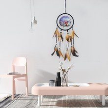 Hot Sale Dream Catcher Handmade Feather Dream Catcher Oil Painting Dreamcatchers Wall Hanging Decor Kids Gift(China)