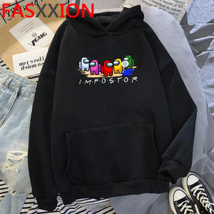 Hoodie Men Graphic Video-Game Cartoon Sweatshirt Anime Streetwear Among Us Impostor Amuong