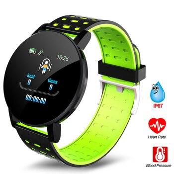 119plus Bluetooth Sports Smart Bracelet Men's and Women's Watch Smart Bracelet Fitness Tracker Stress Sports Watch Heart Rate Mo